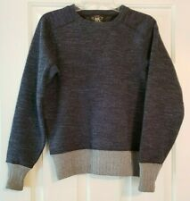DOUBLE RL RRL RALPH LAUREN Sweater Sweatshirt Big Boys Sz XS Gray Wool Blend