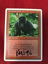MTG Magic The Gathering Kird Ape Italian Signed Artist Proof Auto **VERY RARE**