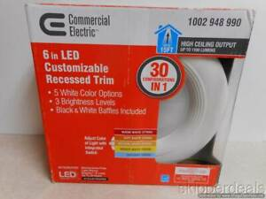 COMMERCIAL ELECTRIC 6 in LED CUSTOMIZABLE RECESSED TRIM 1002948990 BRAND NEW
