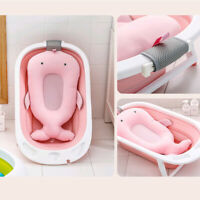 Non-slip Baby Bath Cushion Infant Newborn Shower Seat Bathtub Pad Safety