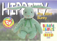 Ty Beanie Babies Bboc Card - Series 2 Common - Hippity the Mint Bunny - Nm/Mint