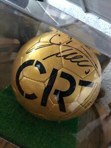 Christiano Cristiano Ronaldo signierter Fußball CR7 Autograph Autogramm RARITÄT