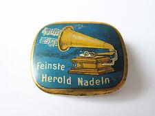 Grammophon NADELDOSE FEINSTE HEROLD NADELN gramophone needle tin