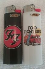"""2 Foo Fighters Bic lighters """"FF"""" Dave Grohl"""