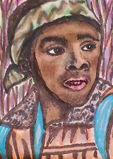 Lucas Sinclair Caleb McLaughlin ACEO 2.5 x 3.5 Original Painting Stranger Things