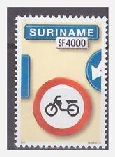Surinam / Suriname 2003 Trafficsign 13 roadsign bycicle MNH