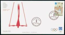 ANGUILLA FDC 2004 COVER OLYMPICS THE RINGS kkm76869