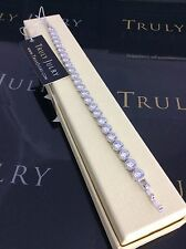 Luxurious Ladies Tennis Bracelet With Swarovski Crystals Jewellery Gift UK