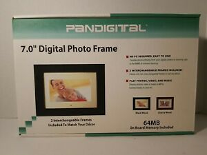 """Pandigital 7"""" Digital Photo Frame 64MB with Two Interchangeable Frames"""