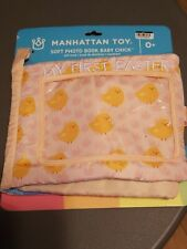 Manhattan Toy Company My First Easter Soft Cloth Baby Photo Book Chick New Pink