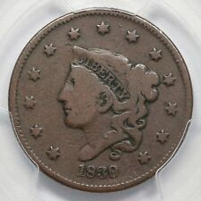 1839/6 N-1 PCGS VG 08 Matron Head Large Cent Coin 1c