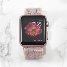Apple Watch Gen 1 38mm Rose Gold Aluminium Case Series 7000 Pink Sand Nylon Loop