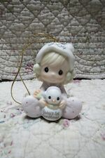 Precious Moments Ornament Babys 1st First Christmas 2004 Girl with Snowman