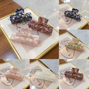 Womens Korean Acrylic Marble Hair Claws Acetate Hair Clip Hairpins Hair Crab UK