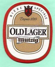 sous-bock bière  MUTZIG OLDLAGER  (frais d'envoi offert)