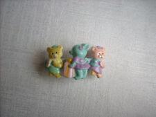barrette cheveux enfant oursons jaune, rose et bleu