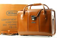 [ UNUSED ]  Nikon FB-11A Compartment Brown Leather Carry Hard Case Box JAPAN