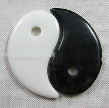 GuaSha Board Yin & Yang Stone Enegy Stones Scraping Scrapping Black & White 2PC