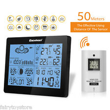 Wireless Weather Station Forecast Temperature Humidity Sunrise Barometer Time EU