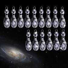 15pc 38mm Clear Glass Crystal Chandelier Lamp Part Drops Prisms Light Pendant