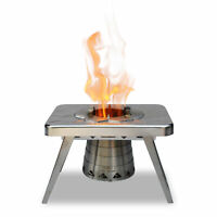 nCamp NST09WBUS Portable Stainless Steel Wood Burning Outdoor Camping Stove