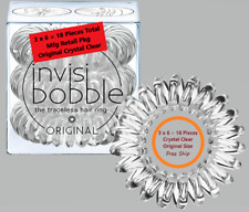 6 Packs (6 x 3 = 18 Pcs) Invisibobble Original Crystal Clear Traceless Hair Ring