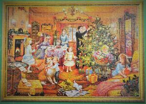 """NEARLY CHRISTMAS"" 1995 LIMITED EDITION WADDINGTONS 1000 PIECE PUZZLE COMPLETE"