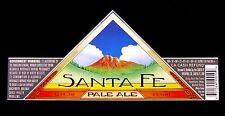 Santa Fe Brewing SANTA FE PALE ALE paper beer label NM 12oz Wings, w/Gov Warn.