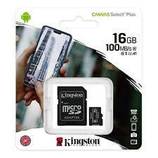 Kingston 16GB/32GB/64GB/128GB Tarjeta Micro SD con adaptador de lona Reino Unido-Seleccione Plus