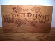 Façade estampe chateau PETRUS 1988 wood wine crate front panel owc cbo case box
