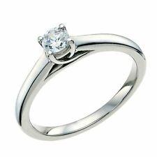 H Samuel 9ct White Gold 0.29 carat FOREVER DIAMOND Ring Size J  Certified & Box