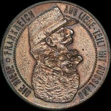 1. WELTKRIEG: Satirische Zink-Medaille. FRANKREICH - RUSSLAND, BELGIEN - ENGLAND
