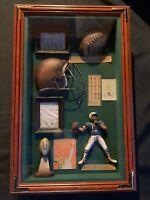 Football Antique Decoration football shadow boxQuarterback Vintage Helmet Frame