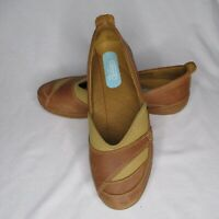 Timberland Womens 10 Brown Leather Ballet Flats Slip Ons Comfort