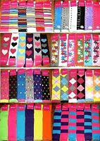 6 Pairs Womens Girls Knee High Socks Thick Secret Lot Multi-Color Sock Size 9-11