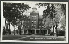 Watertown NY: c.1940s RPPC Real Photo Postcard HENRY KEEP HOME, $5 Photo Co.