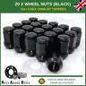 Black Wheel Nuts (20x) M12X1.5 For Land Rover Freelander (1998-06)
