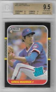 1987 Greg Maddux Donruss RC #36... BGS 9.5 Gem Mint w/10 sub