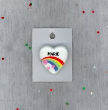Rainbow & Hearts Fashion Pin Brooch Personalized MARIE - Stocking Stuffer