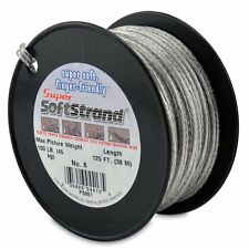 SuperSoftStrand #8 (45kg)- 38m (125ft) Vinyl Coated Stainless Steel Picture Wire