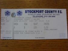 25/10/1997 Ticket: Stockport County v Wolverhampton Wanderers (Complete). Item I