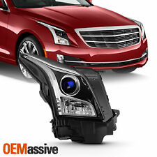 For 2013-2018 Cadillac ATS Sedan Halogen Projector Chrome Headlight Passenger RH
