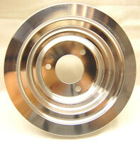Spectre 4509 Billet Aluminum Triple Belt Groove Crank Pulley BBC 1969-2000 LWP