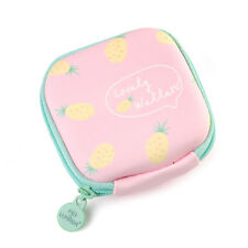 Cute Wallet Card Holder Pink Pineapple Zip Leather Coin Purse Clutch Handbag US
