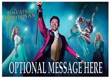 The Greatest Showman Personalised A4 Iced / Icing / Frosting Cake Topper Edible