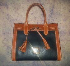 Dooney & Bourke Pebble Leather Ariel Satchel Black and Brown