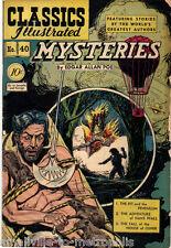 Classics Illustrated 40. MYSTERIES by Edgar Allan Poe. HRN 40 KEY 1st PRINT 1947