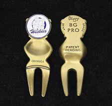 Divvy BG Pro Divot Repair Tool (Color - Antique Brass) & UCONN Ball Marker