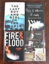 Lot 4 HBDJ Best Selling Young Adult/Teen Novels 13 Reasons Why Fire & Flood B2