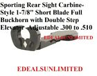 Sporting Rear Sight Carbine Style Full Buckhorn Fits Winchester Marlin Henry